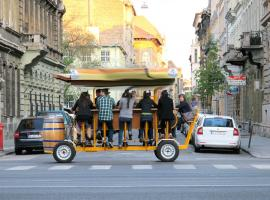 Beer bike in the centre of Budapest