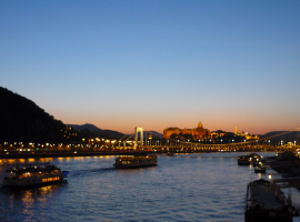 Night Budapest's River View