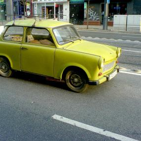 Budapest stag weekend prank with trabant on arrival - transfer from airport